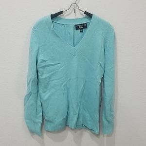 Banana Republic Aqua Wool Sweater Sz L